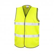 Gilet jaune de sécurité personnalisé ou publicitaire
