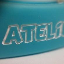 Bracelet silicone marquage en creux + impression 1 couleur