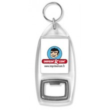 Porte-clés décapsuleur acrylique personnalisé